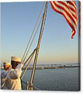 Sailors Salute The National Ensign Canvas Print