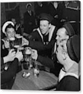 Sailors Toasting In Celebration Of Victory Canvas Print