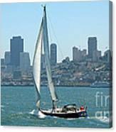 Sailors View Of San Francisco Skyline Canvas Print