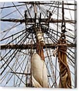 Sails Aboard The Hms Bounty Canvas Print