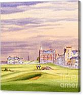 Saint Andrews Golf Course Scotland - 17th Green Canvas Print