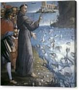 Saint Anthony Of Padua Preaching Canvas Print