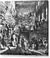Saint-aubin Louvre, 1753 Canvas Print
