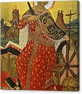 Saint Catherine Of Alexandria Icon Canvas Print