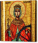 Saint Catherine Of Alexandria Icon Canvas Print