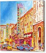 Saint Catherine Street Montreal Canvas Print