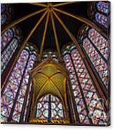 Saint Chapelle Windows Canvas Print