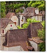Saint Cirq Rooftops Canvas Print