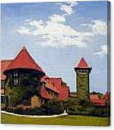 Saint Clements Castle Portland Connecticut Canvas Print