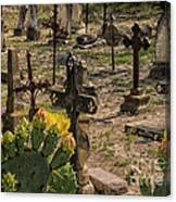 Saint Dominic Cemetery At Old D'hanis Texas Canvas Print