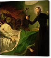 Saint Francis Borgia Helping A Dying Impenitent Canvas Print