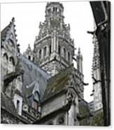 Saint Gatien's Cathedral Steeple Canvas Print