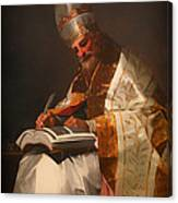 Saint Gregory The Pope Canvas Print