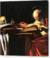 Saint Jerome Writing Canvas Print