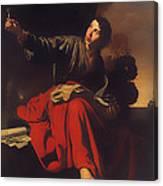 Saint John The Evangelist At Patmos Canvas Print