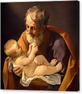 Saint Joseph And The Christ Child Canvas Print