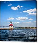 Saint Joseph Lighthouse And Pier Picture Canvas Print