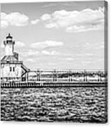 Saint Joseph Lighthouse Retro Panoramic Photo Canvas Print