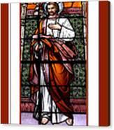 Saint Joseph  Stained Glass Window Canvas Print