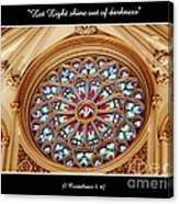 Saint Josephs Cathedral Stained Glass Window Buffalo New York Canvas Print