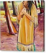 Saint Kateri Tekakwitha Version One Canvas Print