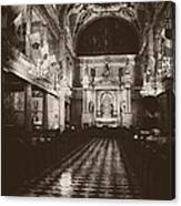 Saint Louis Cathedral New Orleans Black And White Canvas Print
