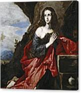 Saint Mary Magdalene In The Desert Canvas Print