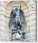 Saint Michael The Archangel In Paris Canvas Print