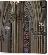 Saint Patrick's Cathedral Stained Glass Window Canvas Print