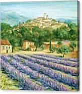 Saint Paul De Vence And Lavender Canvas Print