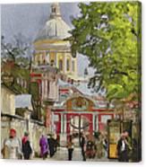 Saint Petersburg Saint Alexander Cathedral Canvas Print