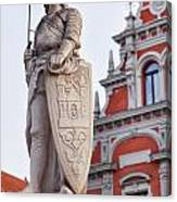Saint Roland I Riga Old Town Canvas Print