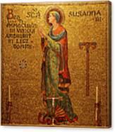 Saint Susanna Altar Canvas Print