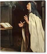 Saint Teresa Of Avila's Vision Of The Holy Spirit Canvas Print