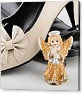 Saint Valentine Angel With Two Shoes Canvas Print