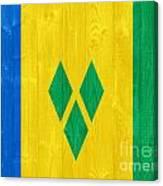 Saint Vincent And The Grenadines Flag Canvas Print