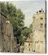 Saint-vincent Street, Montmartre Oil On Canvas Canvas Print
