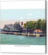 Sainte Claire Flats - Michigan - The Old Club - 1920 Canvas Print