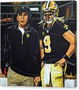 Saints Dynamic Duo Canvas Print