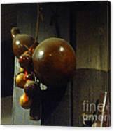 Sake Gourd Bottles From Japan On Corner Canvas Print