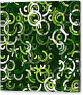 Salad Geometric Circle Segment Pattern Canvas Print