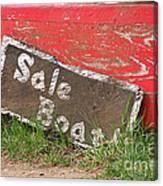 Sale Boat Canvas Print