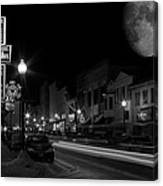Salem Ohio Winter Moon Canvas Print