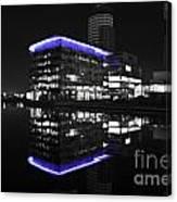 Salford Quay Reflection Canvas Print