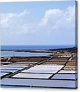 Salinas De Janubio On Lanzarote Canvas Print
