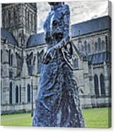Salisbury Cathedral And The Walking Madonna 2 Canvas Print