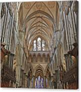 Salisbury Cathedral Quire And High Altar Canvas Print