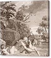 Salmacis And Hemaphroditus United In One Body Canvas Print