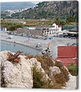 Salobrena Beach Cafes Canvas Print