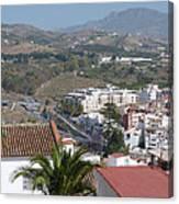 Salobrena Town View Canvas Print